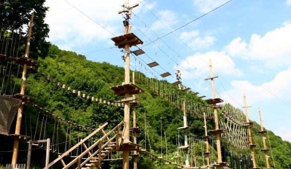 See the world from up high at the Adventure Valley Durbuy park