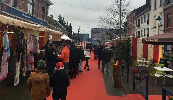 Sip a delicious mulled wine at Houyet's Christmas market