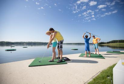Come and try Europe's largest Aqua Golf, in the outstanding setting of the Eau d'Heure Lakes, Belgium.